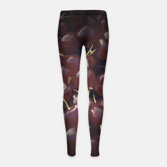 Thumbnail image of cherries pattern reaclifn Girl's leggings, Live Heroes