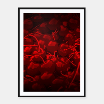 Thumbnail image of cherries pattern reaclidr Framed poster, Live Heroes