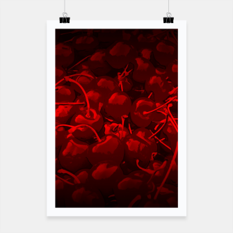 Thumbnail image of cherries pattern reaclidr Poster, Live Heroes