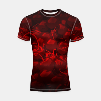Thumbnail image of cherries pattern reaclidr Shortsleeve rashguard, Live Heroes