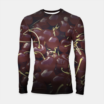 cherries pattern reaclifn Longsleeve rashguard  miniature