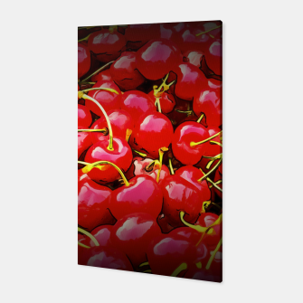Thumbnail image of cherries pattern reaclistd Canvas, Live Heroes