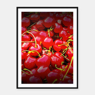 Miniature de image de cherries pattern reaclistd Framed poster, Live Heroes