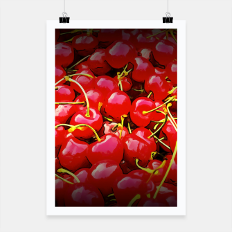 Thumbnail image of cherries pattern reaclistd Poster, Live Heroes