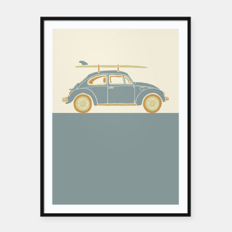 Thumbnail image of Surf Car Framed poster, Live Heroes