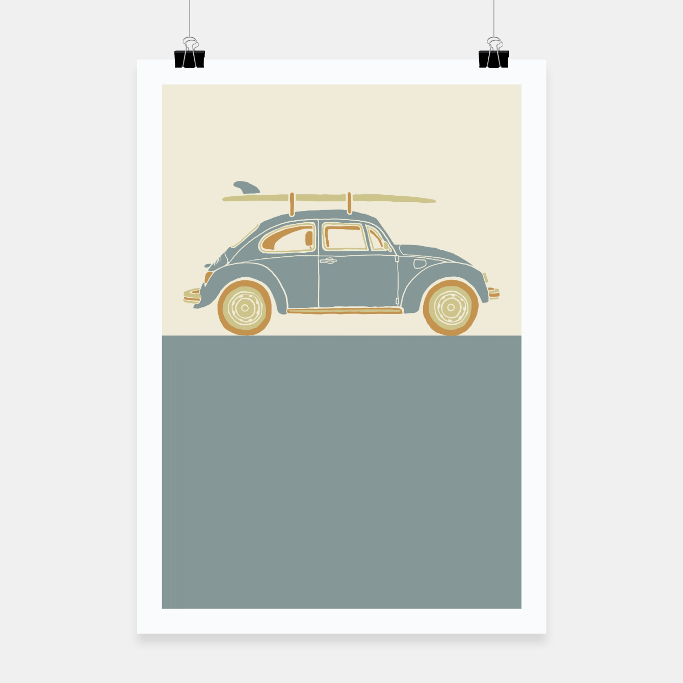 Image of Surf Car Poster - Live Heroes