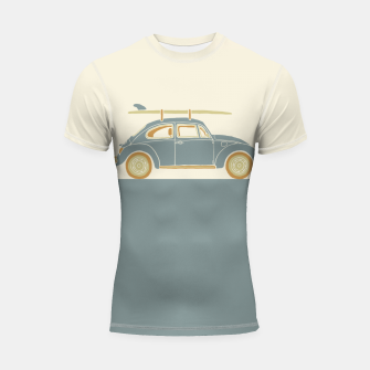 Thumbnail image of Surf Car Shortsleeve rashguard, Live Heroes