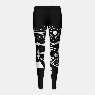 Thumbnail image of Wilderness Girl's leggings, Live Heroes