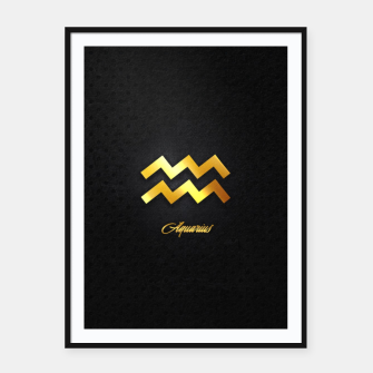 Thumbnail image of Aquarius Framed poster, Live Heroes