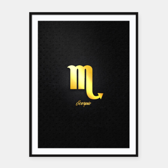 Thumbnail image of Scorpio Framed poster, Live Heroes