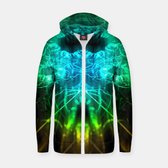 Thumbnail image of Abstract Fractal Zip up hoodie, Live Heroes