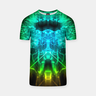 Miniatur Abstract Fractal T-shirt, Live Heroes