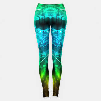 Miniatur Abstract Fractal Leggings, Live Heroes
