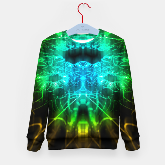 Thumbnail image of Abstract Fractal Kid's sweater, Live Heroes