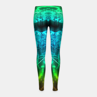 Miniatur Abstract Fractal Girl's leggings, Live Heroes