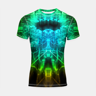 Miniatur Abstract Fractal Shortsleeve rashguard, Live Heroes