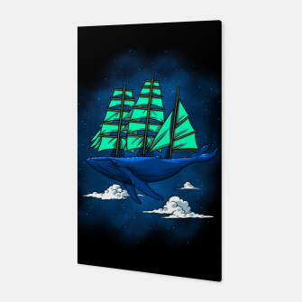 Miniatur Whale sailboat Canvas, Live Heroes