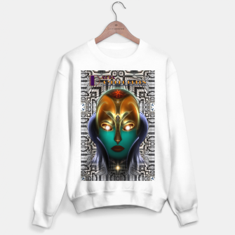 Miniatur Daria Cyborg Queen Tech Fractal Portrait Sweater regular, Live Heroes