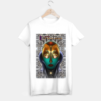 Thumbnail image of Daria Cyborg Queen Tech Fractal Portrait T-shirt regular, Live Heroes
