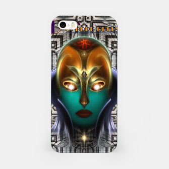 Miniatur Daria Cyborg Queen Tech Fractal Portrait iPhone Case, Live Heroes