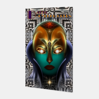 Thumbnail image of Daria Cyborg Queen Tech Fractal Portrait Canvas, Live Heroes