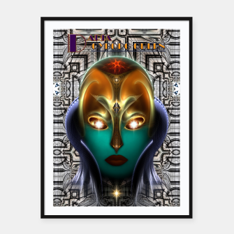 Thumbnail image of Daria Cyborg Queen Tech Fractal Portrait Framed poster, Live Heroes