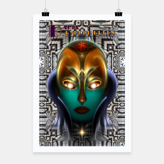 Thumbnail image of Daria Cyborg Queen Tech Fractal Portrait Poster, Live Heroes