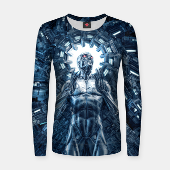 Thumbnail image of I Dream In Steel Women sweater, Live Heroes