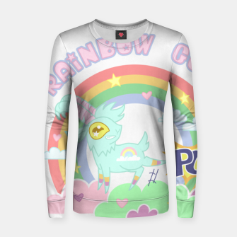 Miniatur POW! Rainbow Goat Kicking Ass for Equality Women sweater, Live Heroes