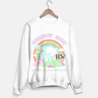 Miniatur POW! Rainbow Goat Kicking Ass for Equality Sweater regular, Live Heroes