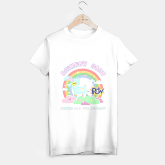 Miniatur POW! Rainbow Goat Kicking Ass for Equality T-shirt regular, Live Heroes