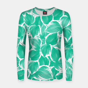 Thumbnail image of Summer Green Leaves Dream #1 #tropical #decor #art Frauen sweatshirt, Live Heroes