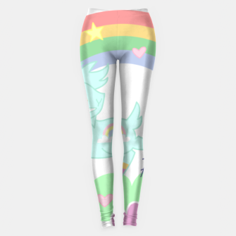 Miniatur POW! Rainbow Goat Kicking Ass for Equality Leggings, Live Heroes