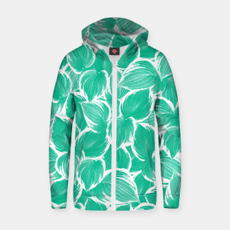 Thumbnail image of Summer Green Leaves Dream #1 #tropical #decor #art Reißverschluss kapuzenpullover, Live Heroes