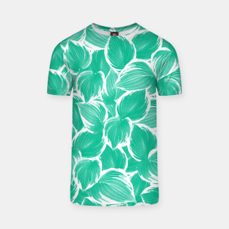 Thumbnail image of Summer Green Leaves Dream #1 #tropical #decor #art T-Shirt, Live Heroes