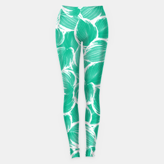 Thumbnail image of Summer Green Leaves Dream #1 #tropical #decor #art Leggings, Live Heroes