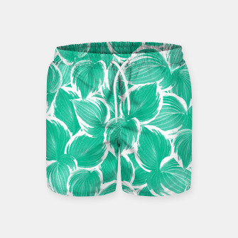 Miniatur Summer Green Leaves Dream #1 #tropical #decor #art Badeshorts, Live Heroes