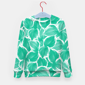 Miniatur Summer Green Leaves Dream #1 #tropical #decor #art Kindersweatshirt, Live Heroes