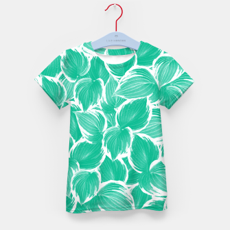 Miniatur Summer Green Leaves Dream #1 #tropical #decor #art T-Shirt für kinder, Live Heroes