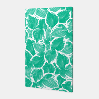 Miniatur Summer Green Leaves Dream #1 #tropical #decor #art Canvas, Live Heroes