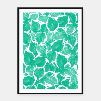 Miniatur Summer Green Leaves Dream #1 #tropical #decor #art Plakat mit rahmen, Live Heroes