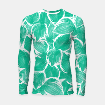 Miniatur Summer Green Leaves Dream #1 #tropical #decor #art Longsleeve rashguard, Live Heroes