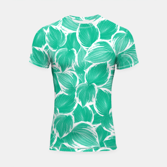 Miniatur Summer Green Leaves Dream #1 #tropical #decor #art Shortsleeve rashguard, Live Heroes