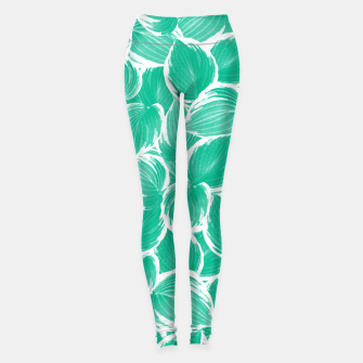 Miniatur Summer Green Leaves Dream #1 #tropical #decor #art Leggings, Live Heroes