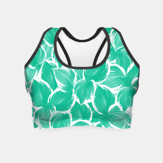 Miniatur Summer Green Leaves Dream #1 #tropical #decor #art Crop Top, Live Heroes