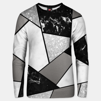 Thumbnail image of Black White Silver Geometric Glam #1 #geo #decor #art Unisex sweatshirt, Live Heroes