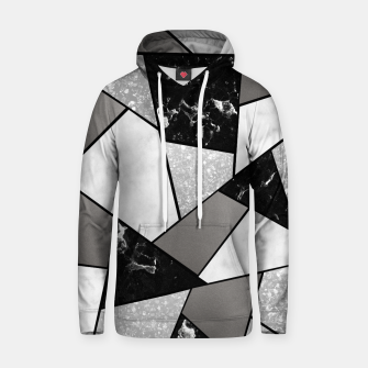 Thumbnail image of Black White Silver Geometric Glam #1 #geo #decor #art Kapuzenpullover, Live Heroes