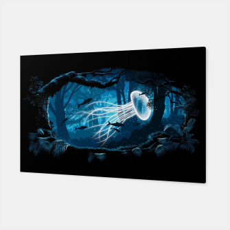 Jellyfish Woods Canvas Bild der Miniatur