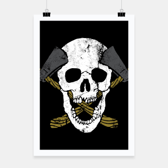 Thumbnail image of Skull Axe Poster, Live Heroes