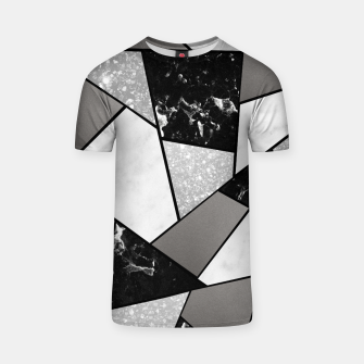 Miniatur Black White Silver Geometric Glam #1 #geo #decor #art T-Shirt, Live Heroes